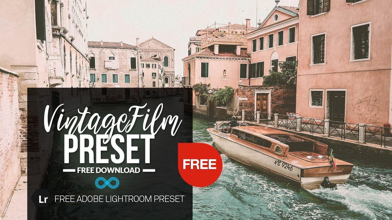 Free Vintage Film Photography Lightroom Preset