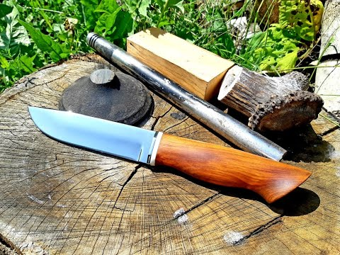 Нож из КЛАПАНА ТЕПЛОВОЗА
