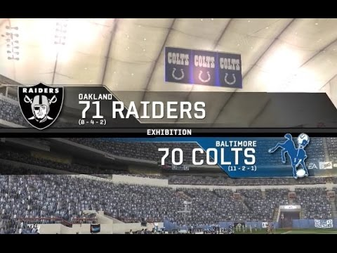 1971 Oakland Raiders vs 1970 Baltimore Colts
