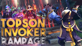 The Reason why people call him GODSON - Super EPIC Cataclysm Rampage by Topson Invoker - Dota 2