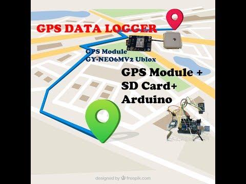 GPS module + Arduino Data LOGGER plot in  GOOGLEMAP