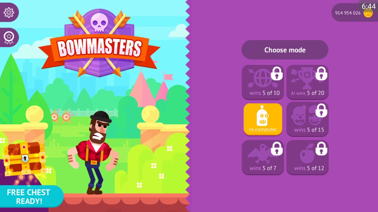 Bowmasters Apk Mod Walkthrough - ALL CHARACTERS UNLOCKED FHD 2018 # Hack  GamePlay