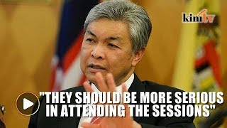 I have taken action over BN lawmakers Parliament absence, says Zahid