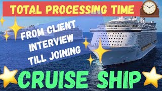 Before joining Cruise Ship, The total process we need to do....