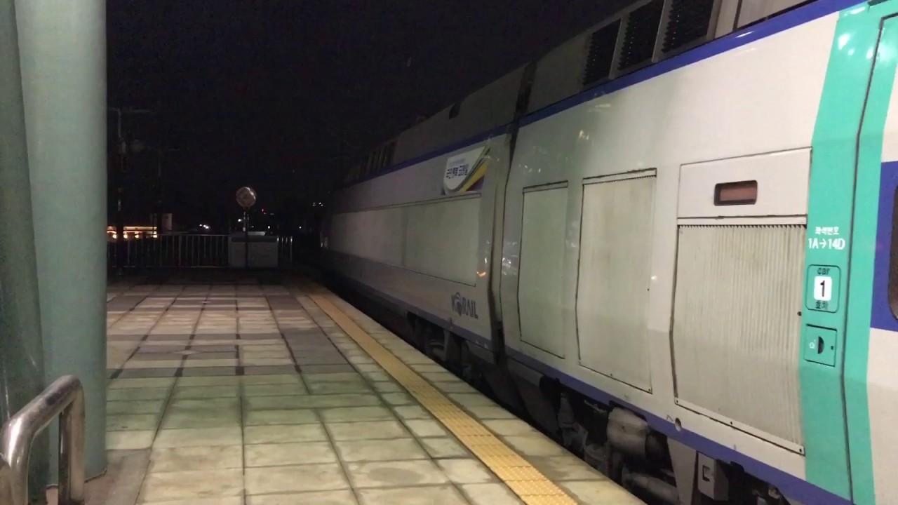 韓国高速鉄道KTX天安牙山駅発車 ...
