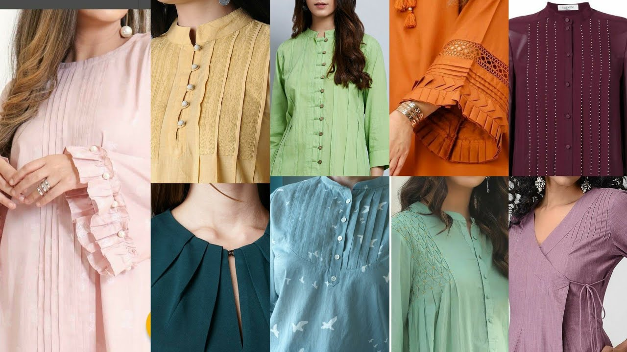 Most Demanding New Style Pleated Kurti pleated ,Frocks And Neck Designs