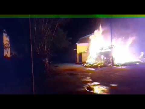 Gas boom blast