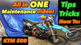 KTM 500 EXCF All In One Maintenance Intervals Video! (How to / DIY)