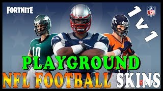 NEW NFL FOOTBALL SKINS in FORTNITE - PLAYGROUND 1V1 Avec SUBSCRIBERS // Fortnite Battle Royale