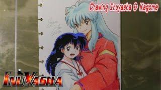Drawing Inuyasha and Kagome from Inuyasha