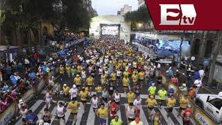 Comienzo de medio maratón en la ciudad de México