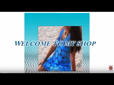 How to crochet Plus size crochet dress pattern Beach cover up