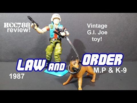 HCC788 - 1987 LAW & ORDER - M.P & K-9 - Vintage G.I. Joe toy review!