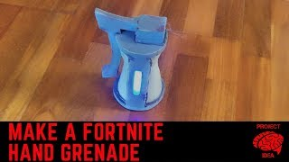 Make a fortnite hand grenade (real life battle royale)