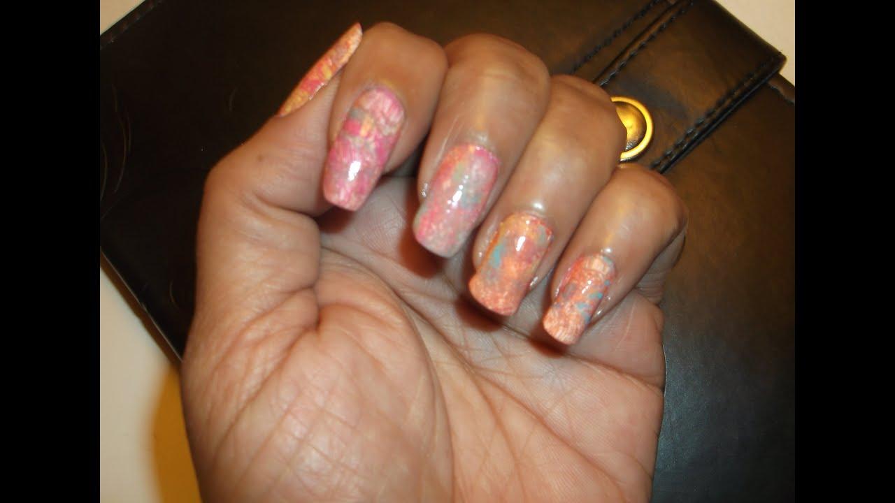 Diseño y decoración para uñas con pinturas acrílicas - YouTube