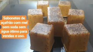 Sabonetes de açafrão e mel – Ótimo para vendas e uso