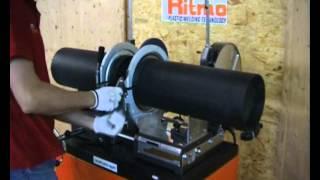 Стыковая сварка ПЭ труб механическим аппаратом(На видео показан процесс стыковой сварки полиэтиленовых труб аппаратом VR250 (производитель Ritmo, Италия), 2015-06-10T09:31:40.000Z)