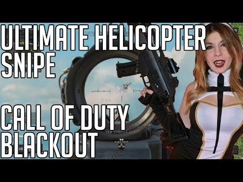 Epic Helicopter Snipe in COD Blackout (Kat Gunn)