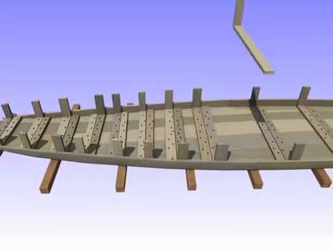 Bevaix Boat - Construction Sequence Animation