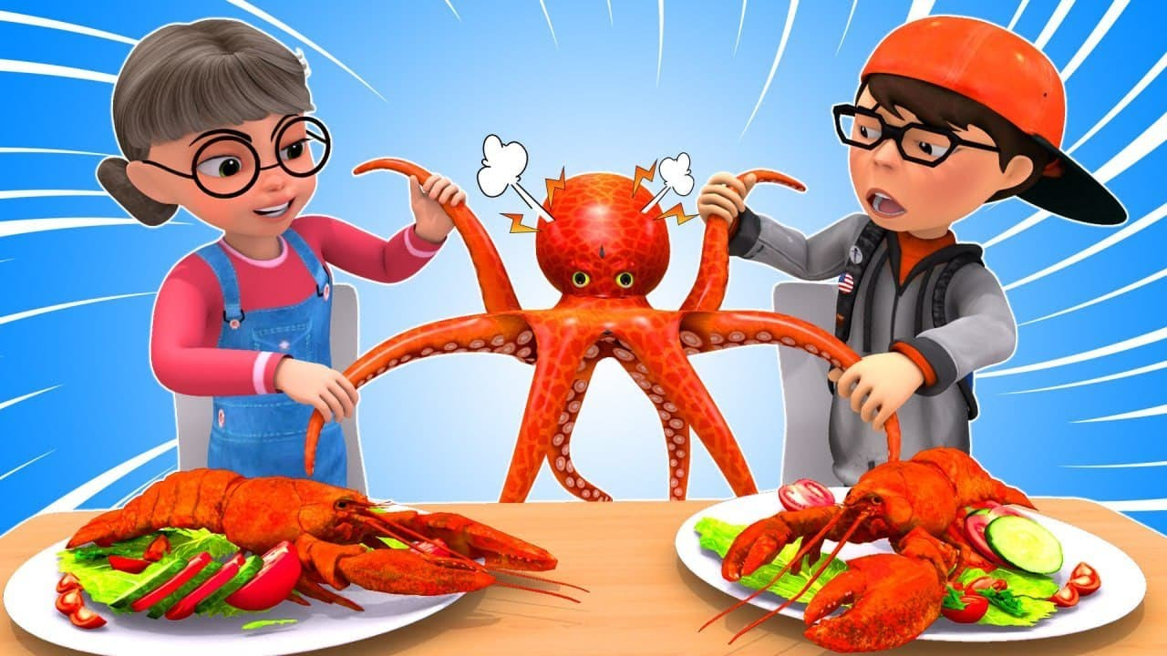 MUKBANG SPICY GIANT SEAFOOD - Giant Octopus & The TITANIC Love Story II Scary Teacher 3D Mukbang