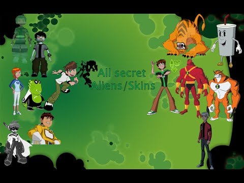 All Secret  Aliens/Skins In Ben 10 Video Games