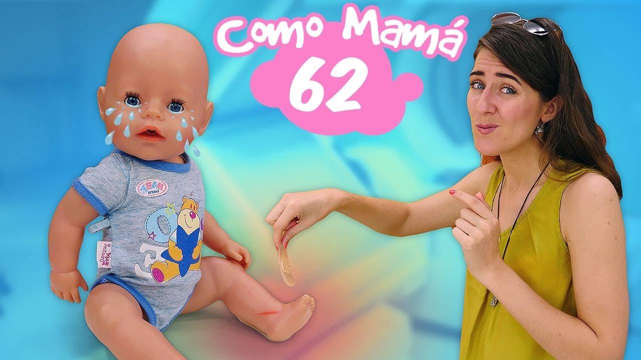 Ponemos una tirita a Amelia. La muñeca bebé Baby Born. Vídeos para niñas