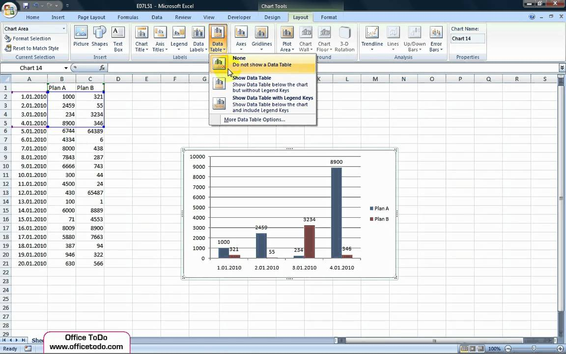 Excel how to add a data table to a chart youtube excel how to add a data table to a chart ccuart Images