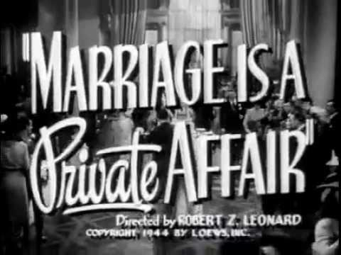 Marriage is a Private Affair - (Original Trailer).flv