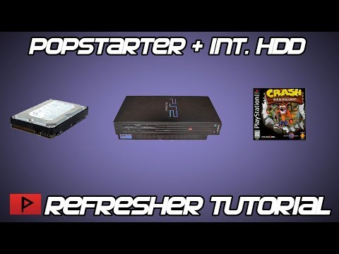 [Refresher Tutorial] Using Popstarter With Fat PS2 Internal Hard Drive - Crash Bandicoot Example