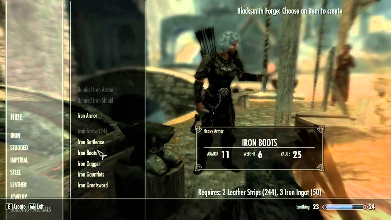 Fastest Way To Level Up Smithing In Skyrim After Patch