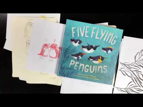Five Flying Penguins - Children's Book Illustration Process