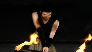東華火舞-翱翔の火焰~燃點 2014-5-27 許斌-火短棍 Music:LET IT GO
