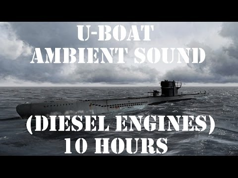 U-Boat Ambient Sound (Diesel Engines) 10 Hours