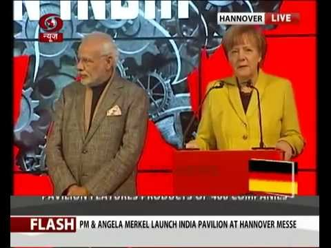 Inauguration of India Pavillion by PM Modi & German Chancellor Angela Merkel