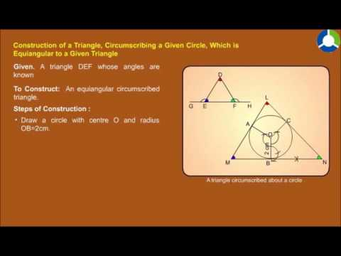 Circumscribed triangle  about a circle
