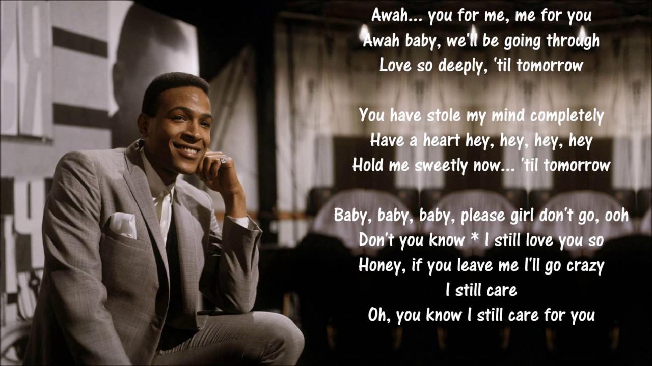 I love you secretly marvin gaye lyrics
