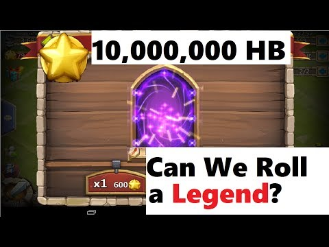 What Happens When You TRY To Roll 10 MILLION Honor Badges For A Legend Castle Clash
