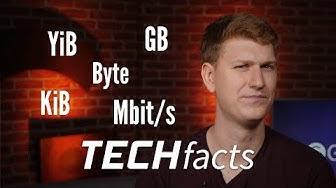 Was sind KB, MB, KiB und Mbit? – TECHfacts