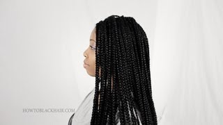 How To Do Box Braids / Singles On Natural Hair Supplies Tutorial Part 1