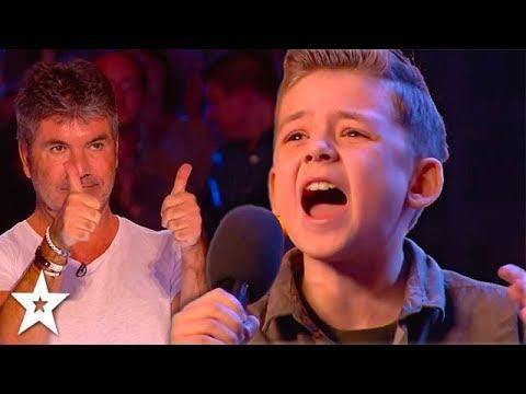 KID SINGER Calum Courtney Gets Standing Ovation on Britain's Got Talent 2018 | Got Talent Global