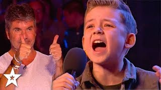 KID SINGER Calum Courtney Gets Standing Ovation on Britain\'s Got Talent 2018 | Got Talent Global