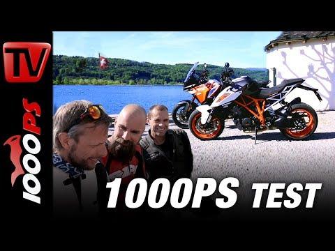 1000PS Test - KTM 1290 Superduke versus KTM 1290 Superadventure S Vergleich Schweiz mit Horst Saiger