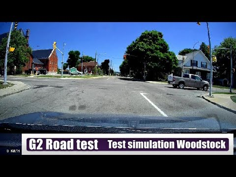G2 road test in Woodstock Ontario