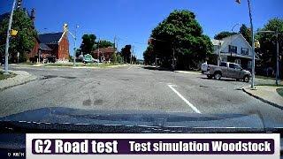 G2 road test in Woodstock Ontario