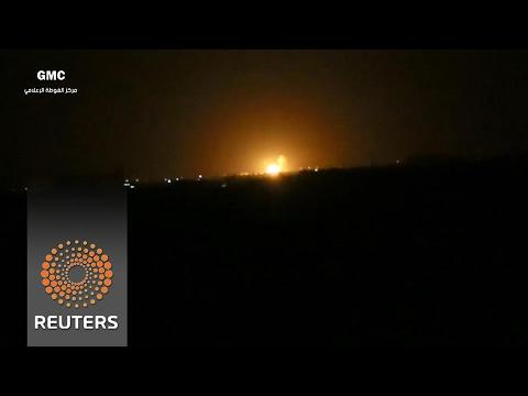Israel seen behind Damascus air strike