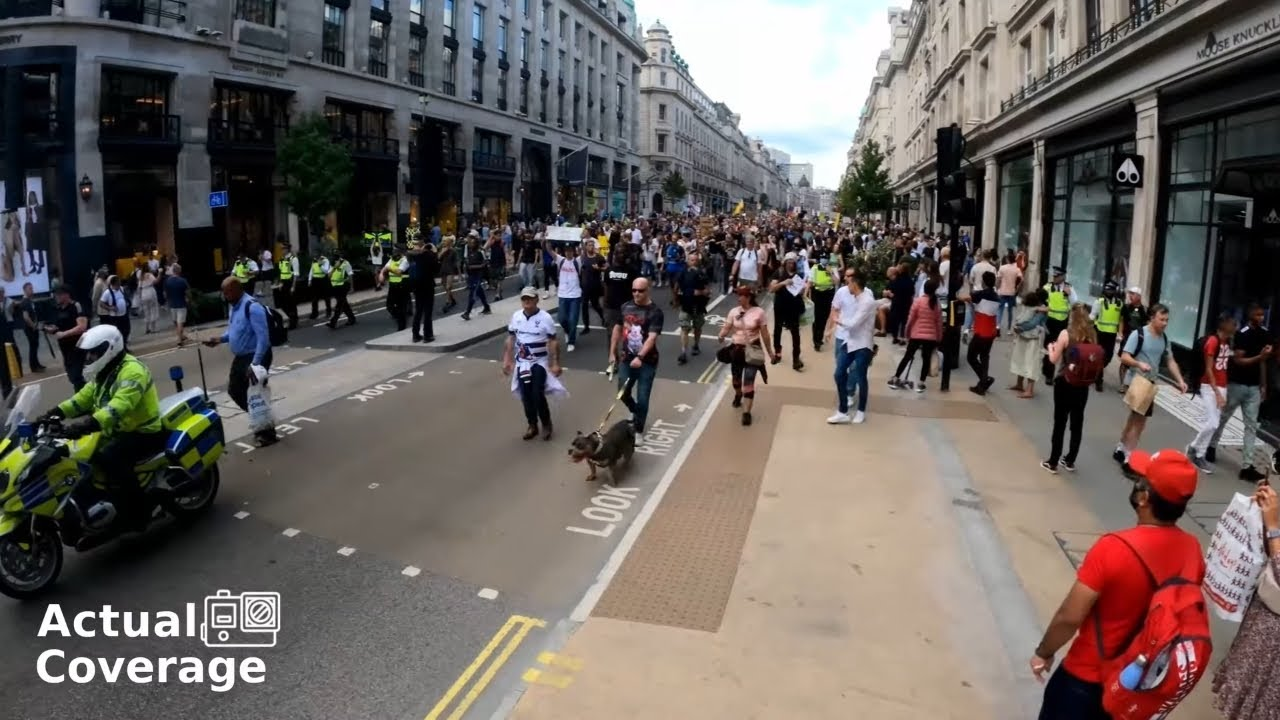'Worldwide Freedom Rally' crowd size   LONDON   18th September 2021