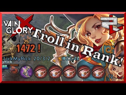 Buying Only Monocles Troll! Mega Crit Gwen! Vainglory 5v5
