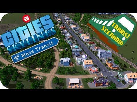 Cities Skylines Gameplay: RICH TEA HILLS STATION Cities Skylines MASS TRANSIT DLC TRAINS SCENARIO #7