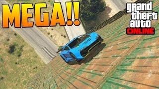 MEGA RAMPA!! NOSE DONDE ESTA LA META!! - Gameplay GTA 5 Online Funny Moments (Carrera GTA V PS4)