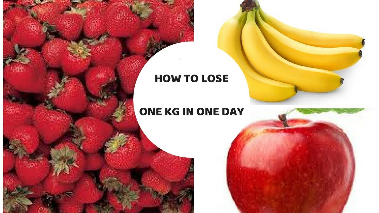 how to lose 1kg a day diet